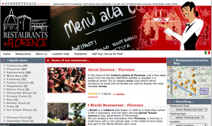 Visiit the most complete portal of Restaurants in Florence and Tuscany!