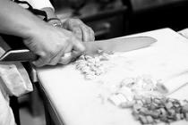 Accademia Restaurant: the chef at work
